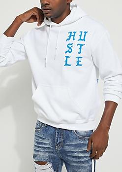 White Hustle Hoodie