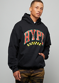 Black Flame Trapper Graphic Hoodie by Rue21
