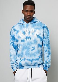 Blue Tie Dye Hype Vibes Hoodie