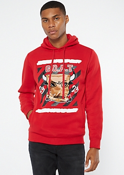 Red GOAT Reflector Stripe Hoodie