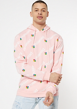 Light Pink Polaroid Graphic Hoodie