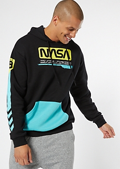 Black Neon Nasa Grid Graphic Sweatshirt by Rue21