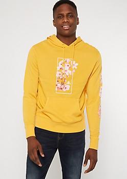 Yellow Cherry Blossom Kanji Graphic Hoodie