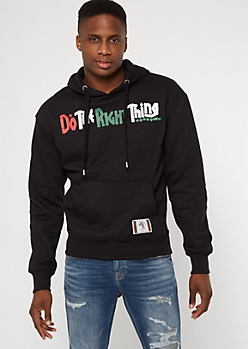 Do The Right Thing Black Script Hoodie