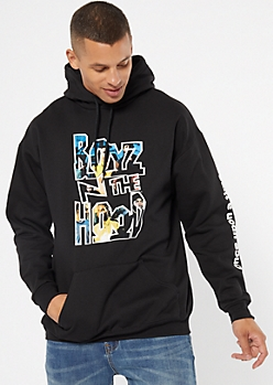 Black Boyz N The Hood Graphic Hoodie