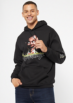 Black Goosebumps Dummy Graphic Hoodie