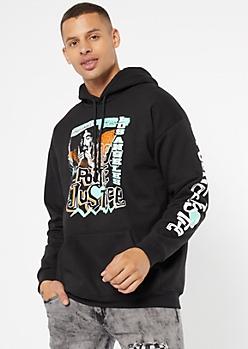 Black Los Angeles Tupac Graphic Hoodie