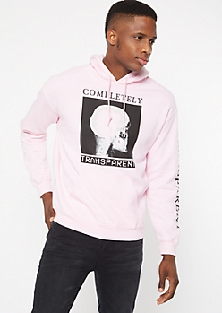 Pink Transparent X Ray Graphic Hoodie