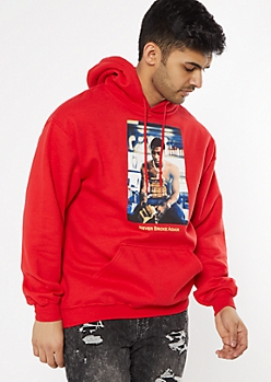 Red Never Broke Again Graphic Hoodie
