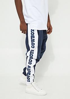 Dallas Cowboys Contrasting Leg Zip Fleece Joggers