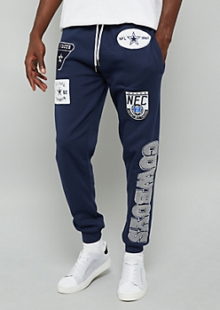 NFL Dallas Cowboys Navy Patch Joggers