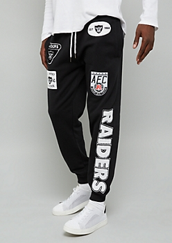 NFL Oakland Raiders Black Patch Joggers