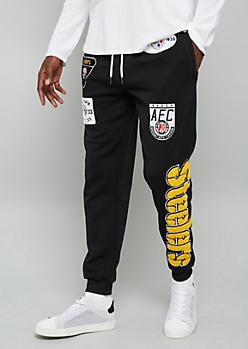 NFL Pittsburgh Steelers Black Patch Joggers
