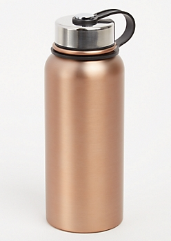 Copper Twist Top Stainless Steel Bottle