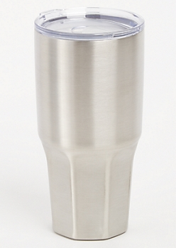 Silver Insulated Metal Tumbler