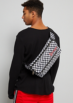 Checkered Print Savage Foldover Fanny Pack