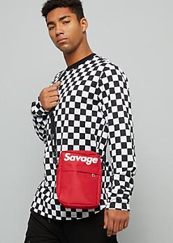Red Savage Adjustable Crossbody Bag