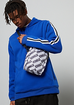 White Stoned Adjustable Crossbody Bag