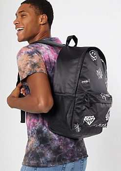 Black Doodle Backpack