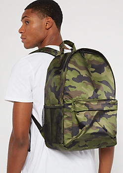 Camo Print Backpack