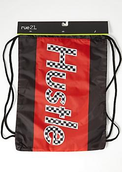 Black Colorblock Hustle Cinch Bag