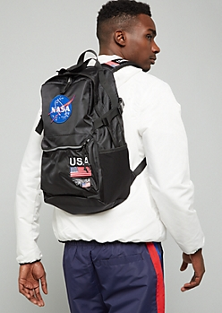 Black NASA Patch Backpack