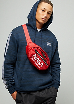 Red NASA Embroidered Fanny Pack