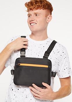 Black Utility Chest Bag