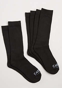 3-Pack Black Crew Socks