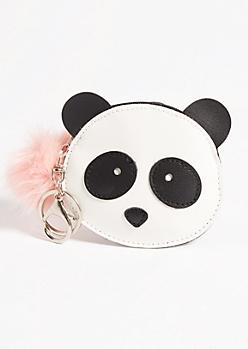 Panda Pom Coin Pouch Handbag Charm