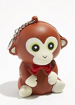 Monkey Squishie Keychain