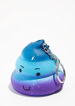 Galaxy Poo Squishie Keychain