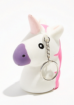 Unicorn Squishie Keychain