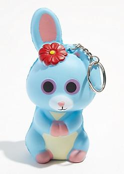 Blue Bunny Squishie Keychain