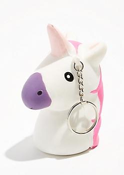 Unicorn Squishie Keychain