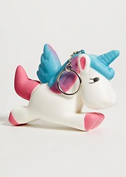 Unicorn Squishy Keychain