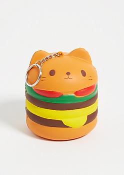 Catburger Squishie Keychain