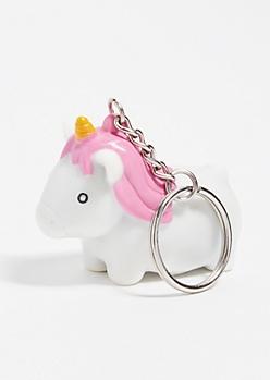 Unicorn Glitter Poop Keychain