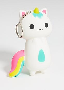 Cat Unicorn Squishie Keychain