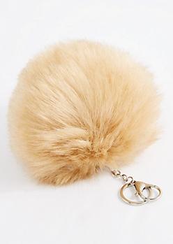 Furry Oversized Pom Handbag Charm