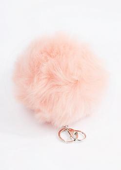 Pink Oversized Pom Handbag Charm