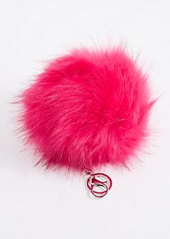 Fuchsia Oversized Pom Handbag Charm