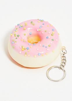 Donut Squishy Stress Ball Keychain