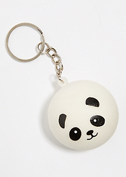 Panda Face Squishy Keychain