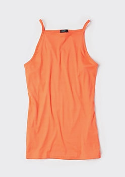 Plus Neon Orange Super Soft Tank Top