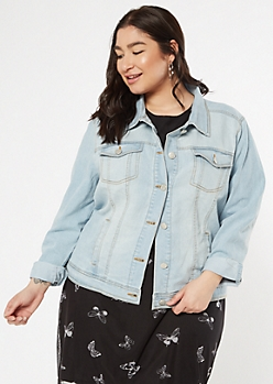 Plus Light Wash Jean Jacket