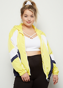 Plus Yellow Colorblock Windbreaker