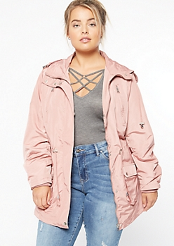 Plus Pink Nylon Anorak Jacket