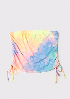 Plus Tie Dye Cinched Super Soft Tube Top