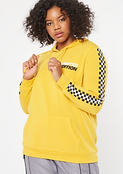 Plus Mustard Limited Edition Graphic Hoodie